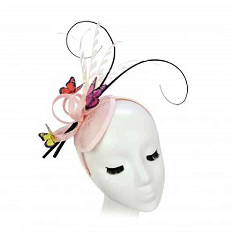 Sinamay Fascinator with Butterflies by Something Special Hat