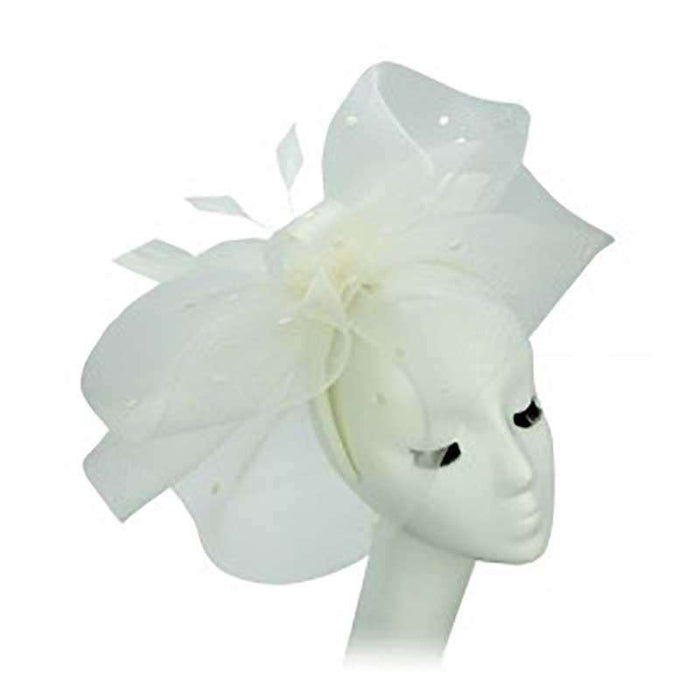 Large Dotted Tulle Veil Fascinator - Something Special Hat