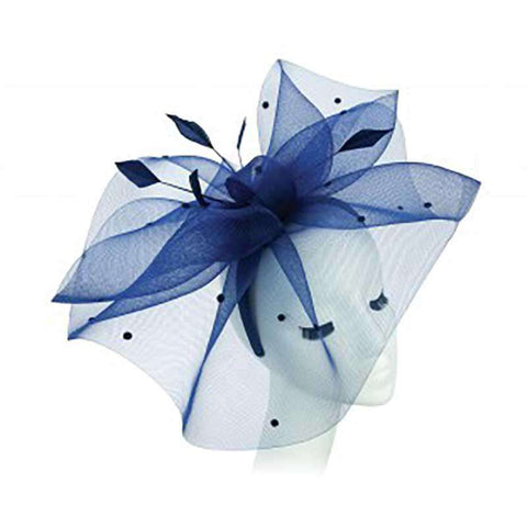 Large Dotted Tulle Veil Fascinator