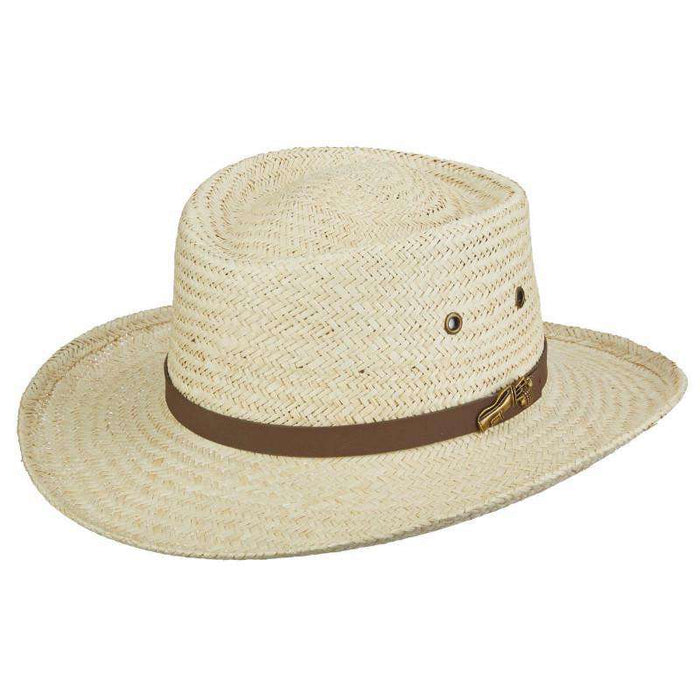 Pro Golf Woven Palm Gambler - Scala Hats for Men