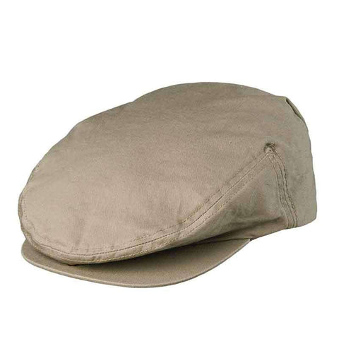 Snap Peak Garment Washed Twill Ivy Cap by DPC Global - Khaki