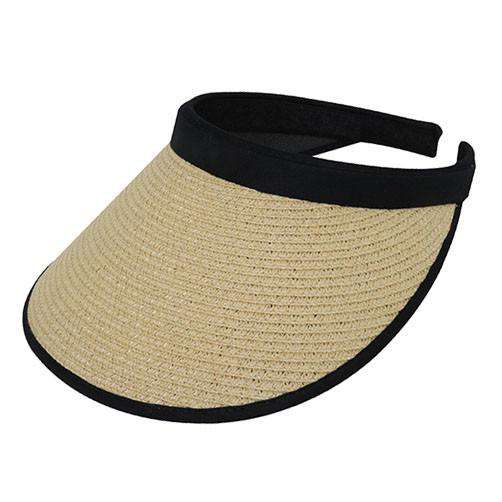 Toyo Straw Clip-on Sun Visor - SetarTrading Hats