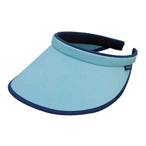 Brushed Cotton Clip-on Sun Visor with Contrast Trim - Blue - SetarTrading Hats
