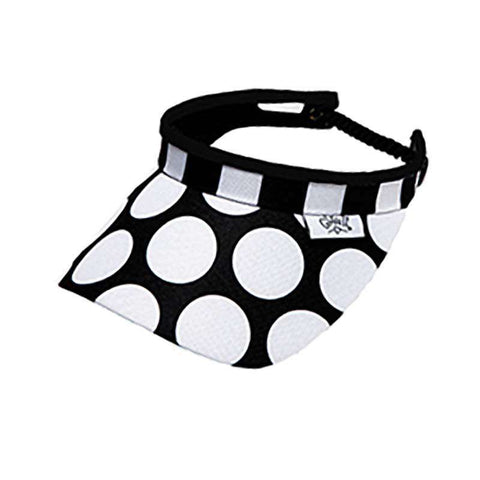Mod Dot Golf Sun Visor with Coil Lace by GloveIt