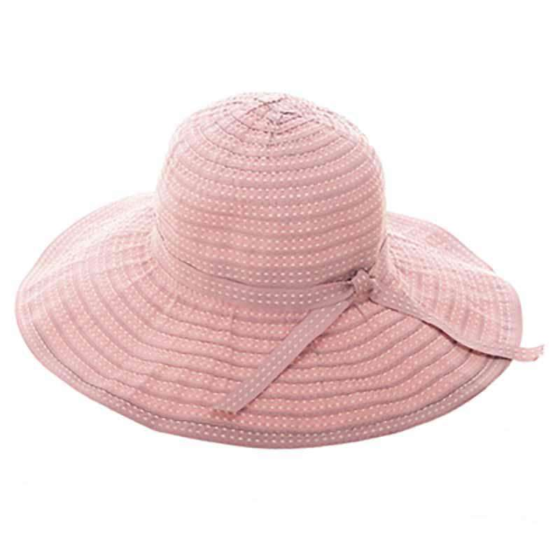 Embroidered Ribbon Sun Hat - SetarTrading Hats