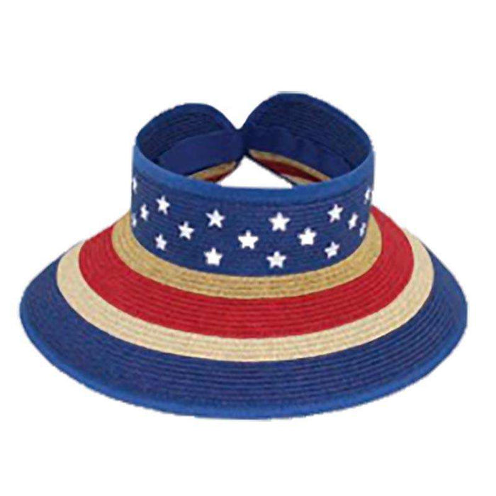 Flag Roll Up Sun Visor by JSA - SetarTrading Hats