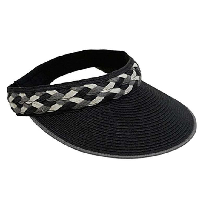Visor with Cross Woven Band - SetarTrading Hats