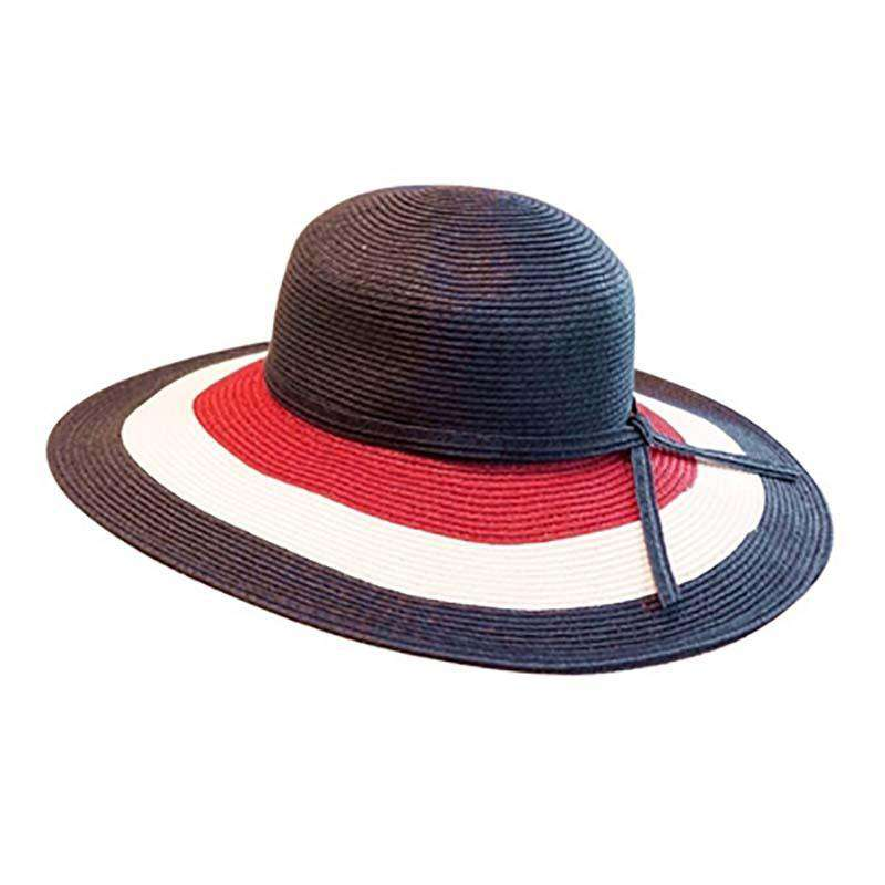 Red, White and Blue Sun Hat - SetarTrading Hats