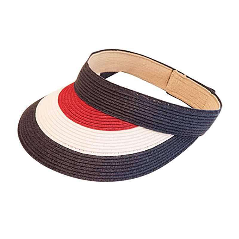 Red, White and Blue Sun Visor - SetarTrading Hats