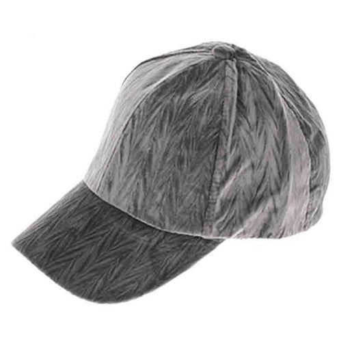Textured Velvet Fashion Baseball Cap - DNMC