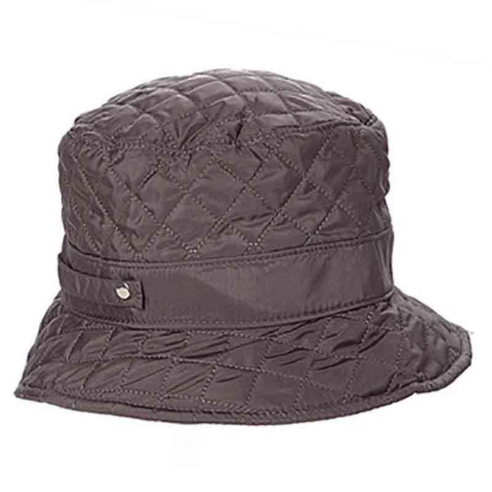 Fleece Lined Quilted Rain Hat by DNMC