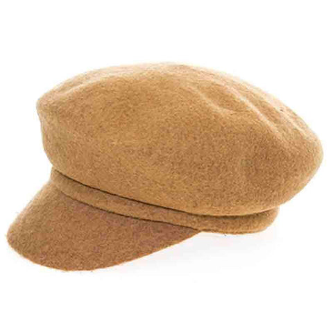 Boiled Wool Newsboy Cap by DNMC