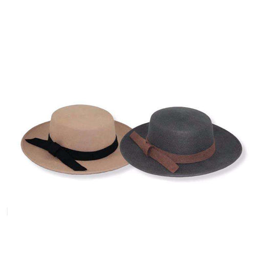 Wool Felt Bolero Hat by JSA for Women