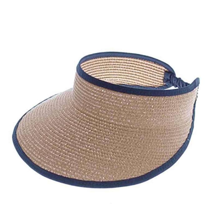 Two Tone Lightweight Sun Visor - Boardwalk Style