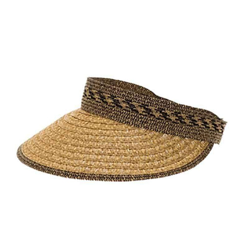 Medium Roll Up Mix Braid Sun Visor - Boardwalk Style
