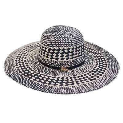 Crisscross Pattern Handwoven Sun Hat - SetarTrading Hats