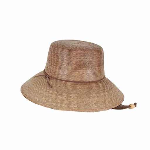 Ms. Abby Petite Palm Leaf Sun Hat with Chin Strap - Tula Hats