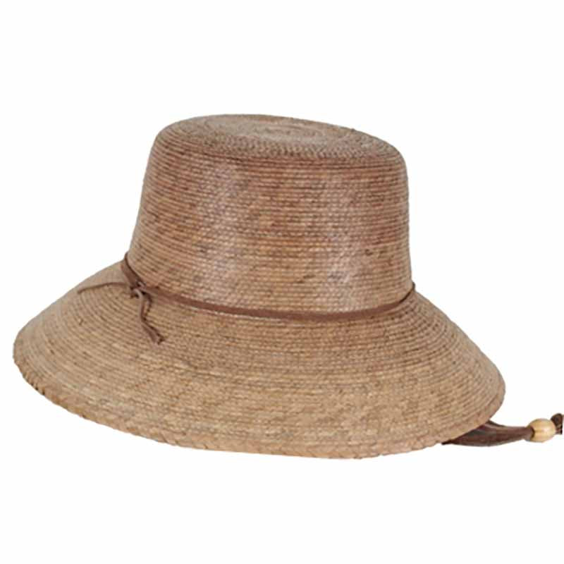 Abby Burnt Palm Leaf Sun Hat with Chin Strap - Tula Hats