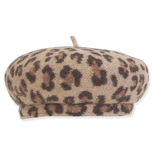 Animal Print Soft Wool French Beret - Adora® Hats