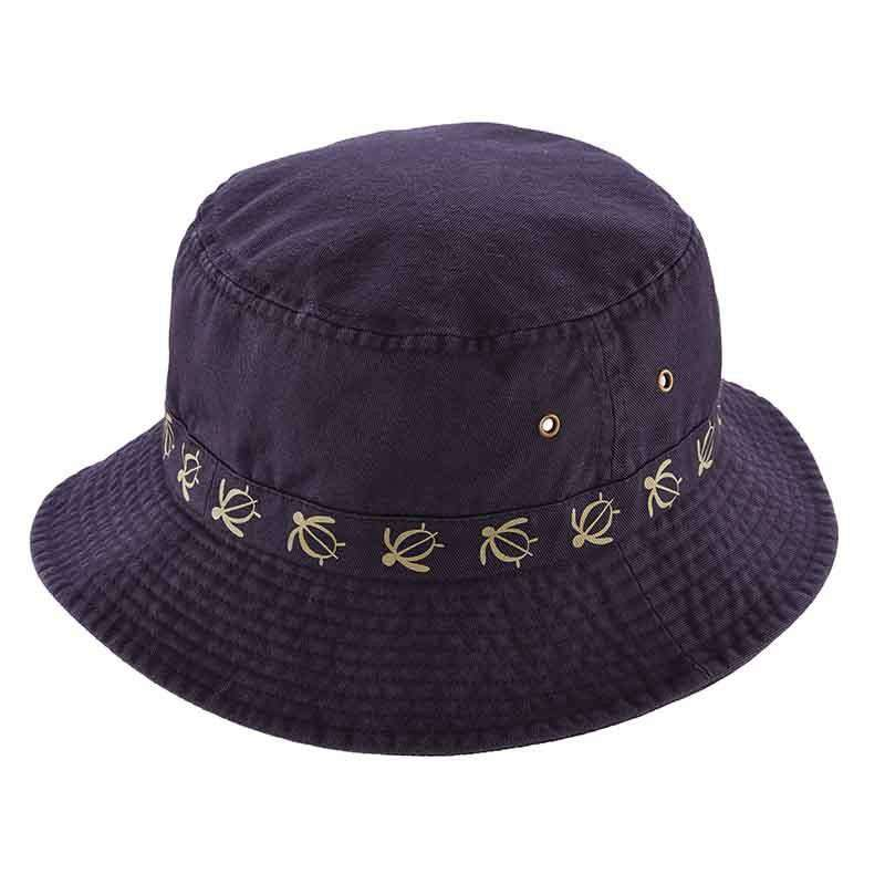 Cotton Bucket Hat with Turtle Embroidery by DPC Global - SetarTrading Hats
