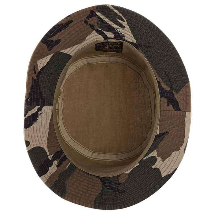 Camo Underbrim Cotton Bucket Hat by DPC Global - SetarTrading Hats