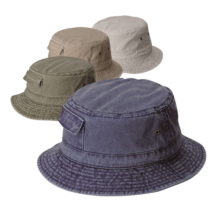 DPC Dyed Twill Bucket Hat with Side Pocket - SetarTrading Hats