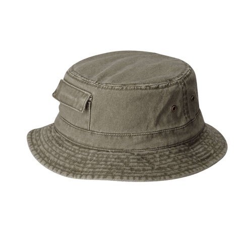 DPC Dyed Twill Bucket Hat with Side Pocket