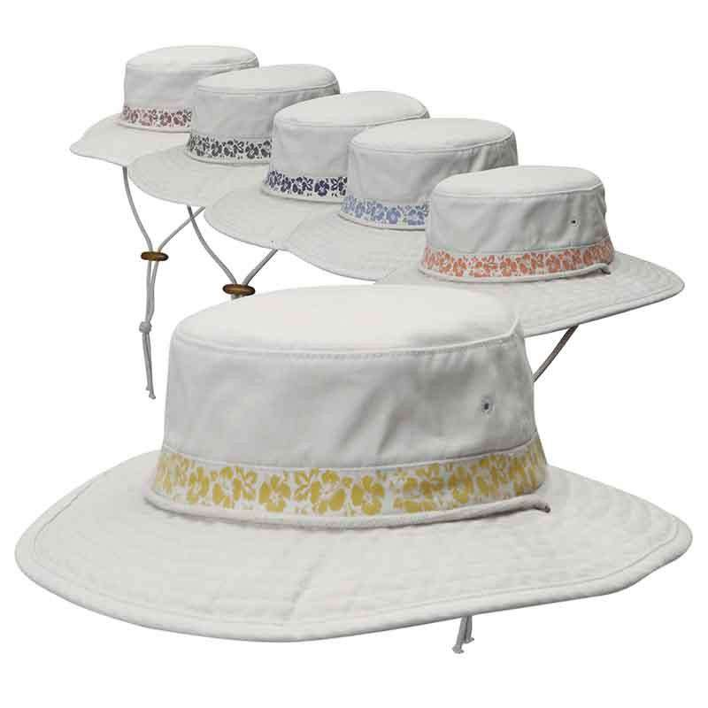 30aed72e6e6 Garment Washed Twill Boonie Hat with Hibiscus Print by DPC Global -  SetarTrading Hats