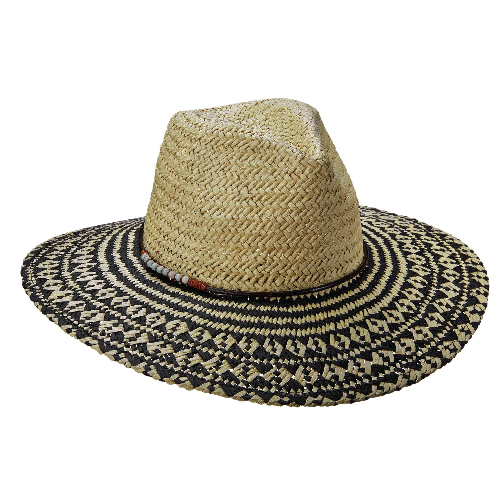 Diamond Design Woven Toyo Safari Hat by Brooklyn Hats - SetarTrading Hats