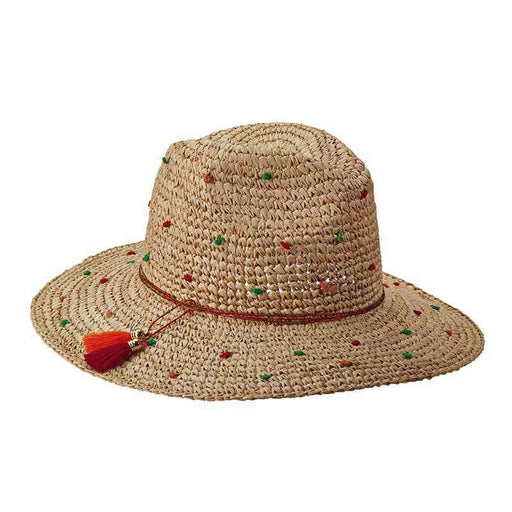 Dubrovnik Speckled Raffia Safari -Brooklyn Hats - SetarTrading Hats