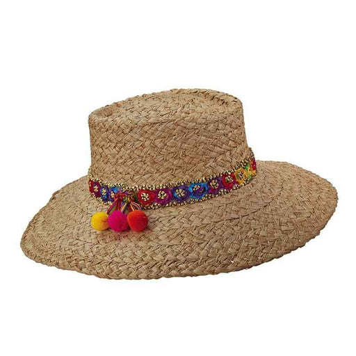 Brooklyn Hats - Pattaya Braided Raffia Gaucho Hat - SetarTrading Hats