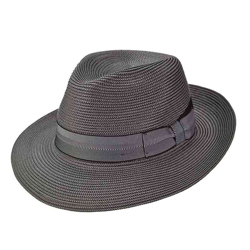 Sandoval Pinch Front Large Brim Fedora by Brooklyn Hat Co - Urban Essentials - Grey - SetarTrading Hats