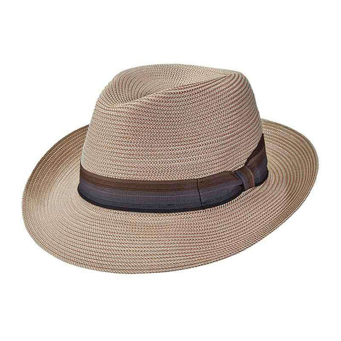 Sandoval Pinch Front Large Brim Fedora by Brooklyn Hat Co - Urban Essentials - Natural