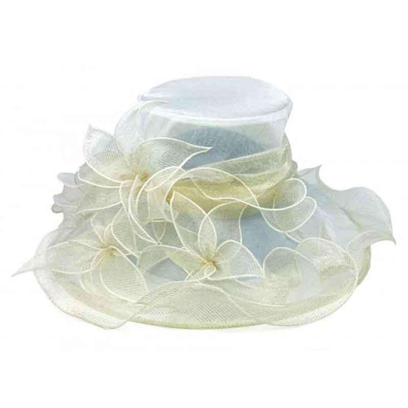 Metallic Organza Flower Dress Hat