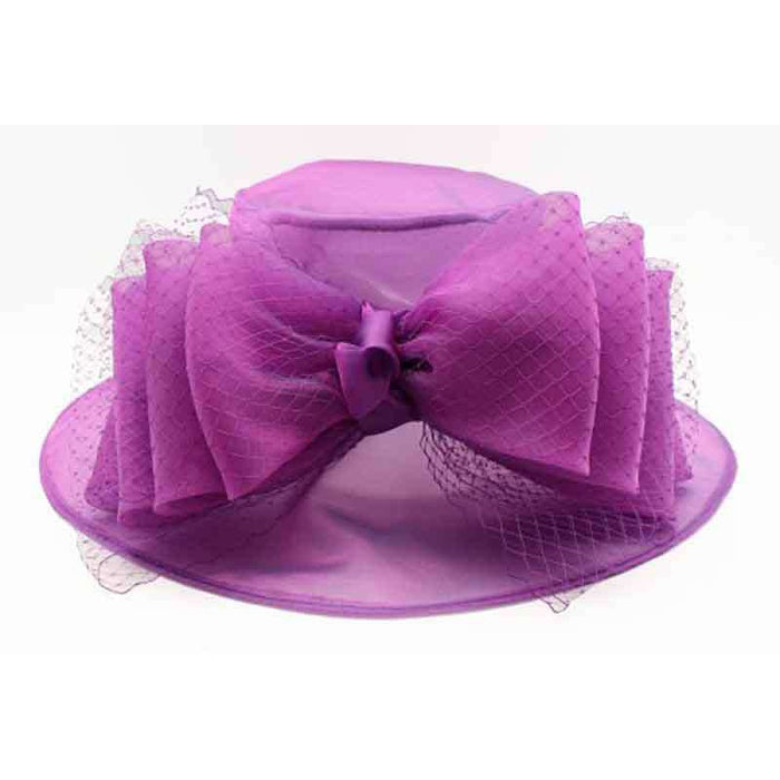 Multi Layer Large Bow Kentucky Derby Hat