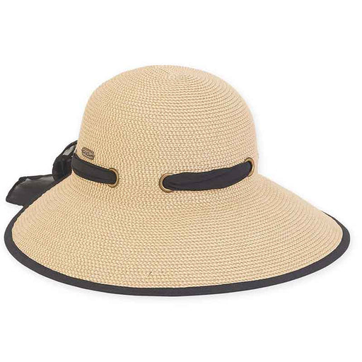 Backless Sun Savor Hat with Chiffon Scarf - Sun 'N' Sand