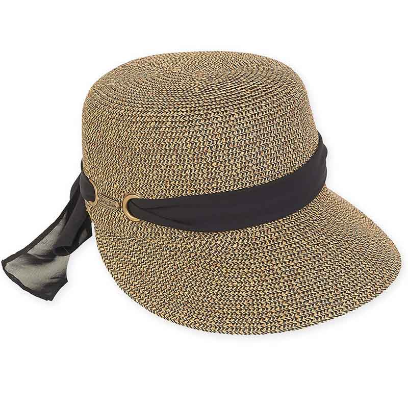 Straw Brim Cap Hat with Sash - Sun 'N' Sand