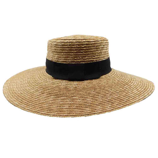 Big Brim Straw Boater Hat - Brooklyn Hat Co