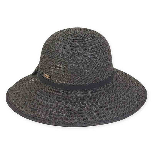 Black Crochet Toyo V-Cut Back Hat - Sun'N'Sand