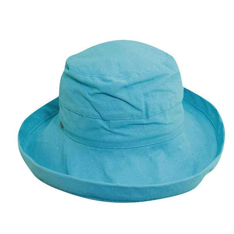 Scala Kids Cotton Up Turned Brim Sun Hat