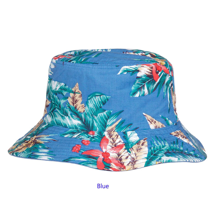 Reversible Floral Print-Solid Color Bucket Hat - SetarTrading Hats