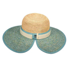 Callanan Two Tone Raffia Sun Hat