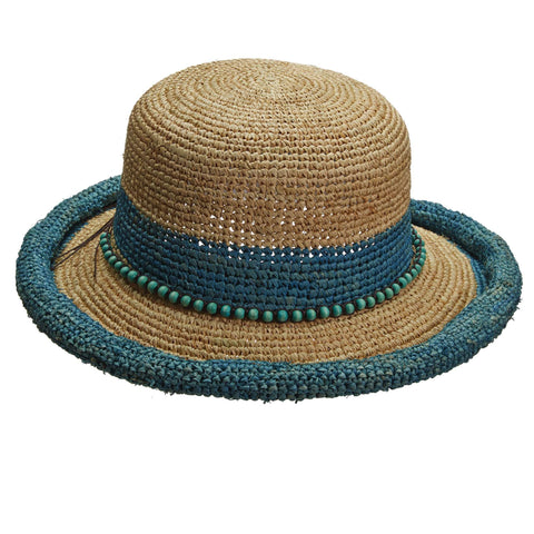 Roll Edge Raffia Hat by Callanan