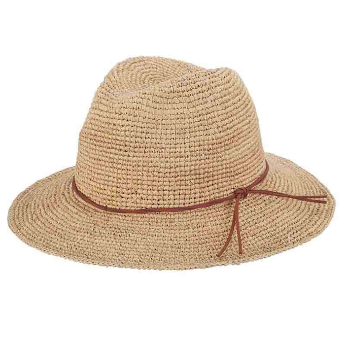 Hand Crocheted Raffia Safari Hat by Callanan