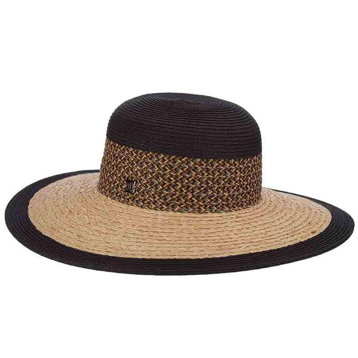 Raffia Braid Brim Floppy Sun Hat - John Callanan