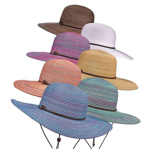 Saltwater Taffy Polybraid Floppy Beach Hat - DPC
