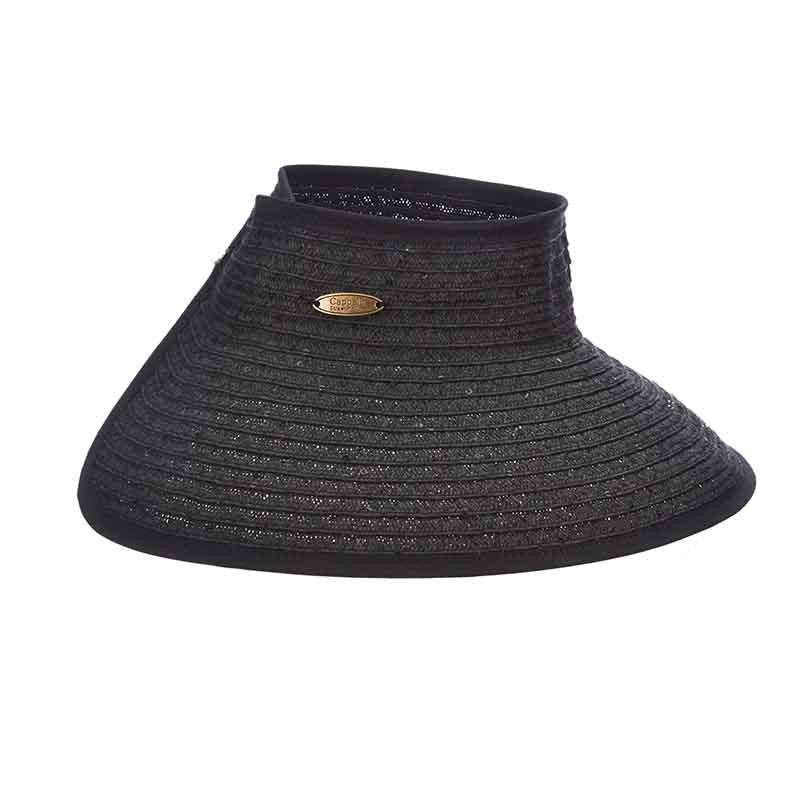 Large Roll-Up Sun Visor with Sequins - Cappelli Straworld - SetarTrading Hats
