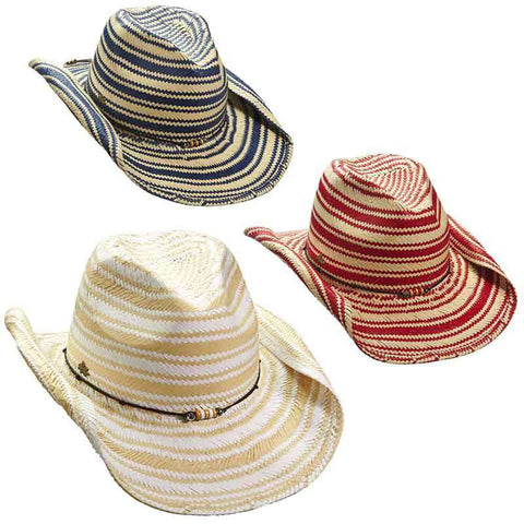 Striped Toyo Western Hat by Cappelli Straworld