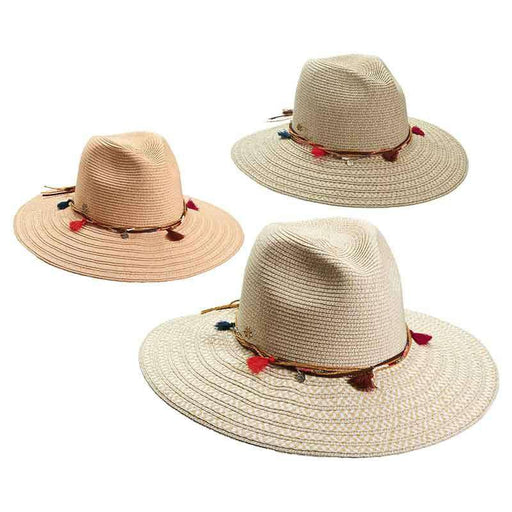 Safari Hat with Beads and Tassels by Cappelli Straworld - SetarTrading Hats