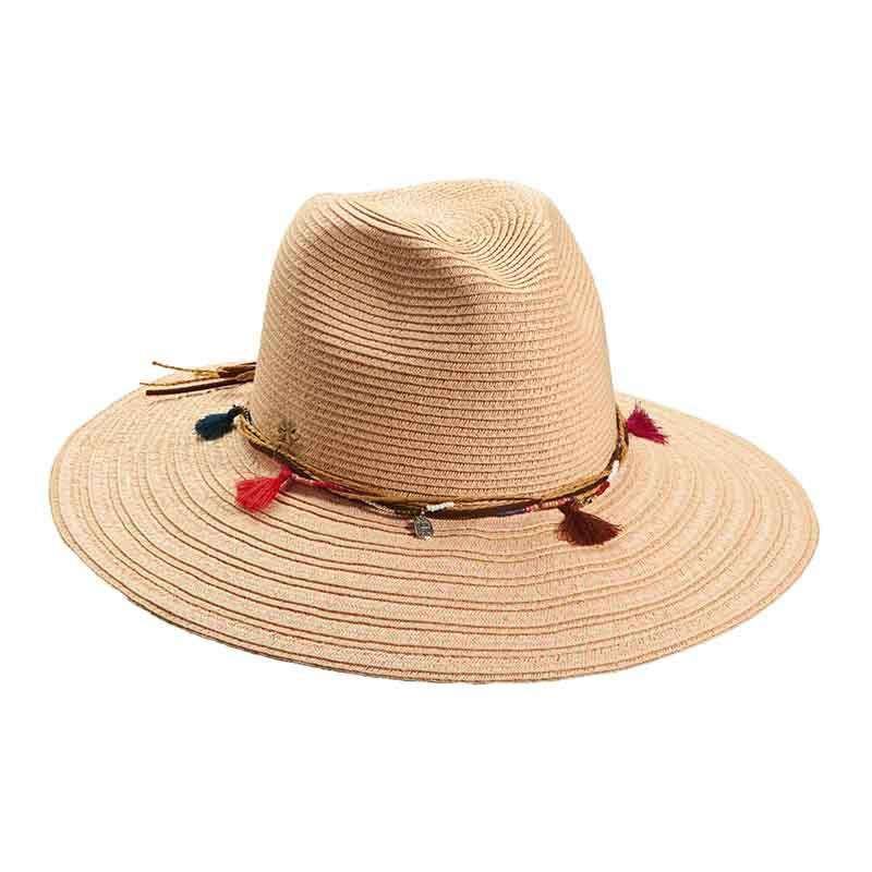 234a3542563b6c Safari Hat with Beads and Tassels by Cappelli Straworld - SetarTrading Hats